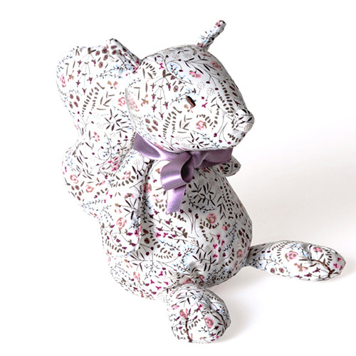 Tobi (Floral pattern) - Squirrel