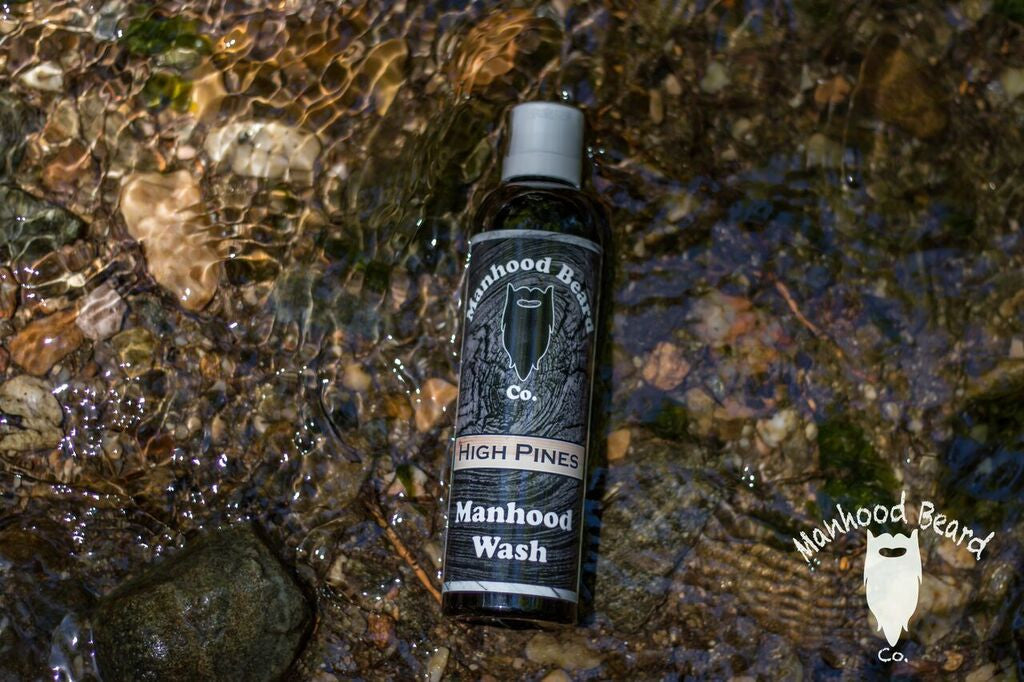 8oz High Pines Manhood Wash