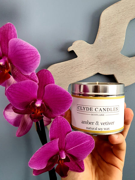 Amber & Vetiver Candle Tin