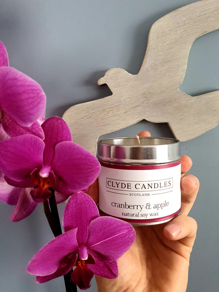 Cranberry & Apple Candle Tin
