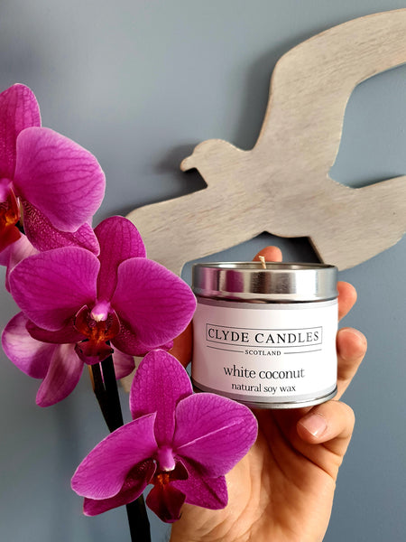 White Coconut Candle Tin