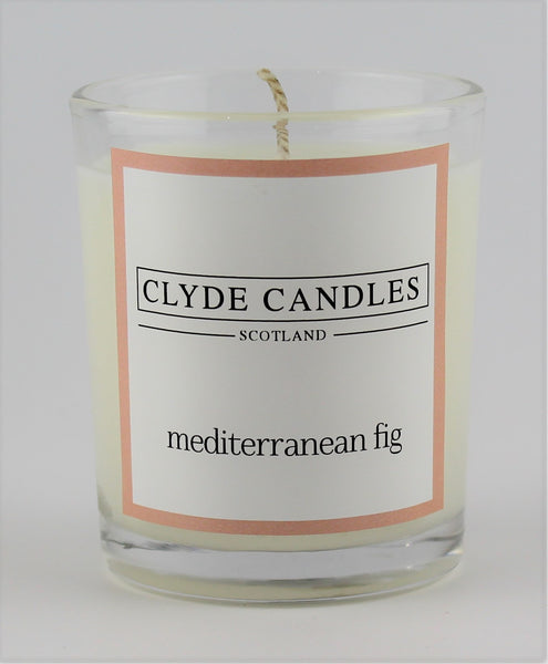 mediterranean fig  wedding votive candle, clyde candles, scottish candles, hand made in scotland, natural soy wax