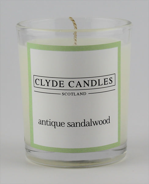Antique Sandalwood  wedding votive candle, clyde candles, scottish candles, hand made in scotland, natural soy wax