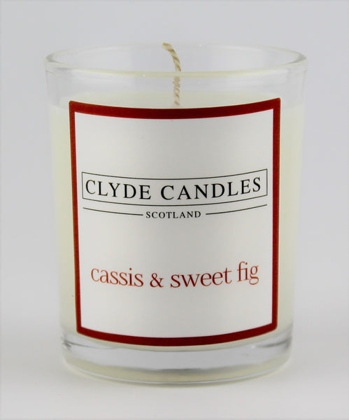 cassis & sweet fig  wedding votive candle, clyde candles, scottish candles, hand made in scotland, natural soy wax