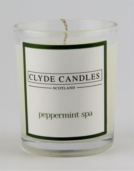 peppermint spa  wedding votive candle, clyde candles, scottish candles, hand made in scotland, natural soy wax