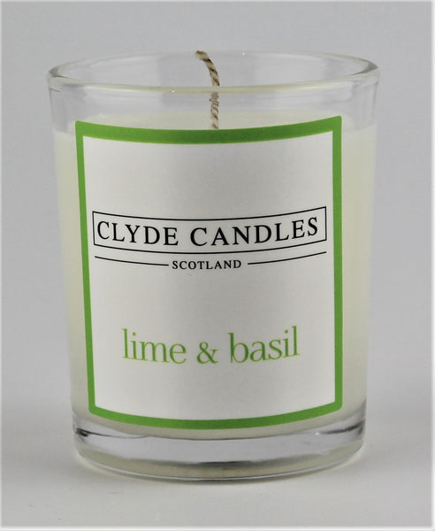 lime and basil wedding votive candle, clyde candles, scottish candles, hand made in scotland, natural soy wax