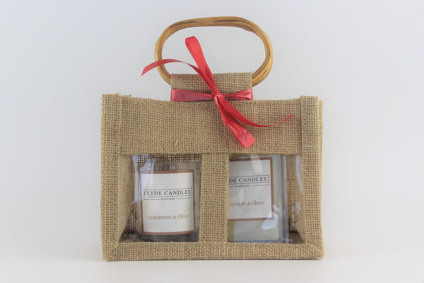 Clyde Candles Votive & Wax Melt Gift Set - Cinnamon & Clove Natural Soy Candle, Vegan friendly