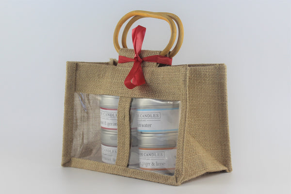 Clyde Candles 4 Small Natural Soy Candle Tins Gift Set - Fresh Pack , gifts for mum, teacher's gift