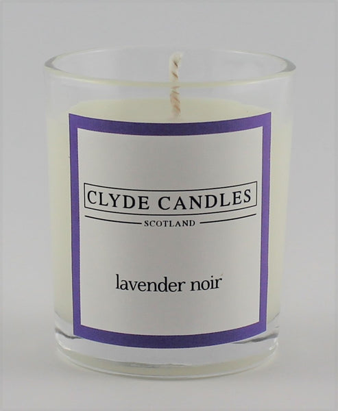 Lavender Noir  wedding votive candle, clyde candles, scottish candles, hand made in scotland, natural soy wax