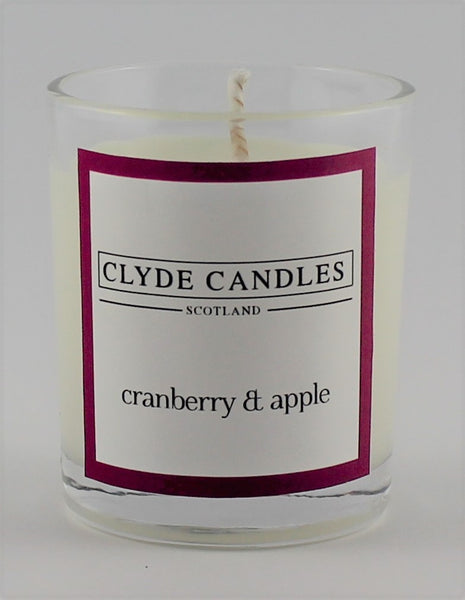 Cranberry & Apple Wedding Votive, Clyde Candles, scottish candles, wedding gifts, soy candle, natural candle