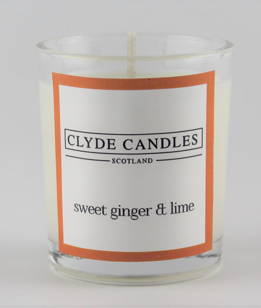 Sweet Ginger & Lime  wedding votive candle, clyde candles, scottish candles, hand made in scotland, natural soy wax