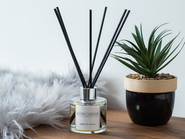 Amber & Vetiver Reed Diffuser - Clyde Candles