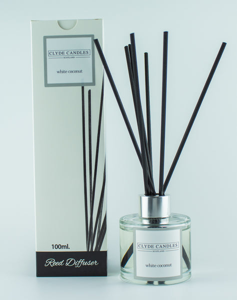 White Coconut Reed Diffuser Clyde Candles