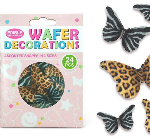 015 Precut Mariposas 3 size 24 pcs Edible Wafer Paper Butterflies