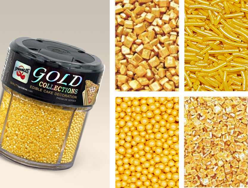 Gold Collection shaker Gluten GMO Nut Dairy Soy Free Cake Decoration