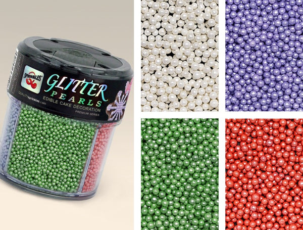 Glitter shimmer Pearls Gluten Nut Dairy Soy Free 100% Natural Sprinkle