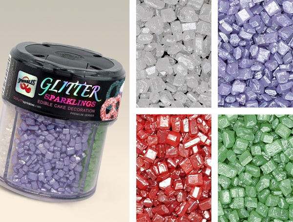 Glitter shimmer Sparkling Gluten Nut Soy Free Natural colored sugar