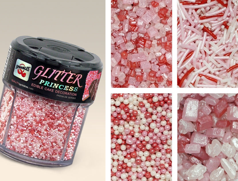 Glitter shimmer Princess Gluten GMO Nut Soy Free all Natural Sprinkles