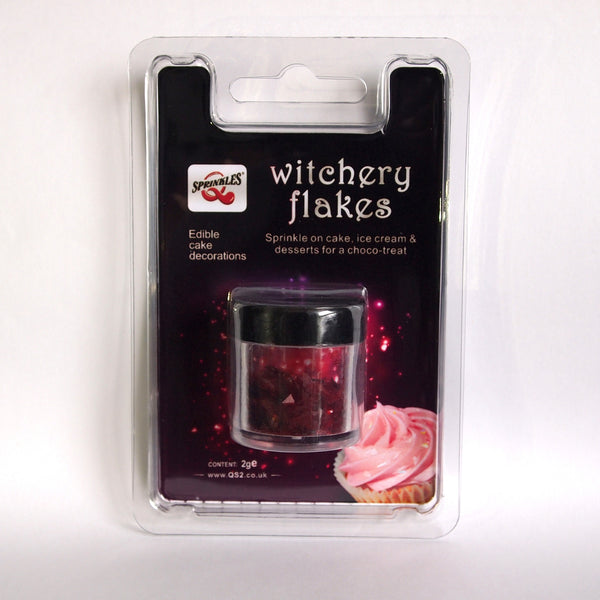 054 Red Edible Sugar Free all Natural Glitter shimmer Witchery Flakes