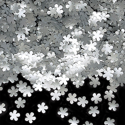 Silver Glitter Flowers Kosher Certified Edible Decoration