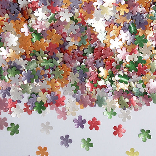 Rainbow Glitter Flowers Gluten Free Edible Decoration