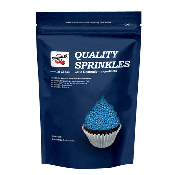 Natural Blue Pearlized nonpareils Nuts Soy Gluten Free Shimmer pearls