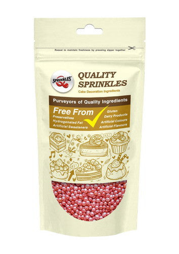 Natural 4mm Red Nuts Dairy Soy Gluten GMO Free  shimmer Pearls