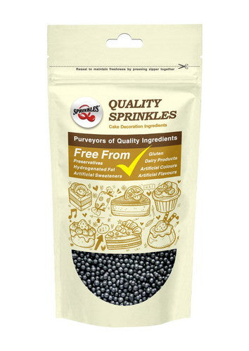Natural 4mm Black Nuts Dairy Soy Gluten GMO Free  shimmer Pearls