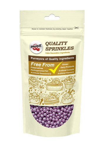 Shimmer Purple 6mm Pearls Nut Free Halal Kosher Certified