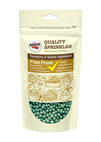 Natural 6mm Green Nuts Dairy Soy Gluten GMO Free  shimmer Pearls