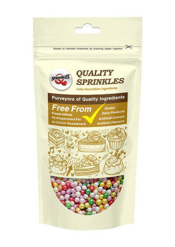 Shimmer Rainbow 6mm Pearls Soy Free Vegan Cake Decoration