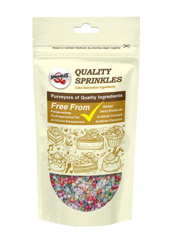 Natural Rainbow Nuts Dairy Soy Gluten GMO Free Shimmer Sparkling Sugar