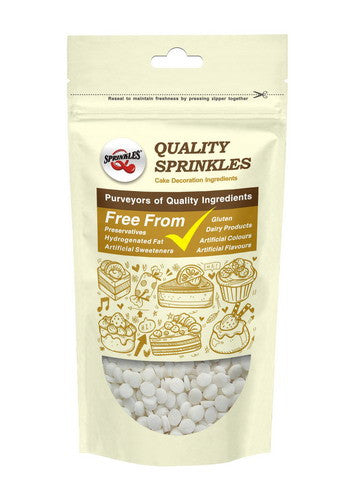 Natural White Gluten GMO Nuts Dairy Soy Free Confetti Sequins
