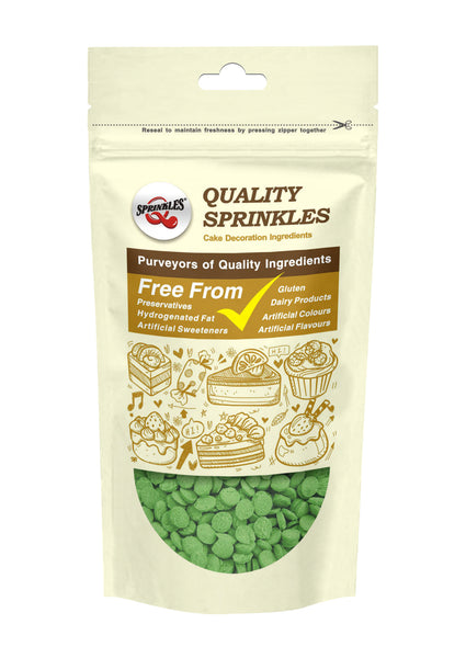 Natural Green Gluten GMO Nuts Dairy Soy Free Confetti Sequins