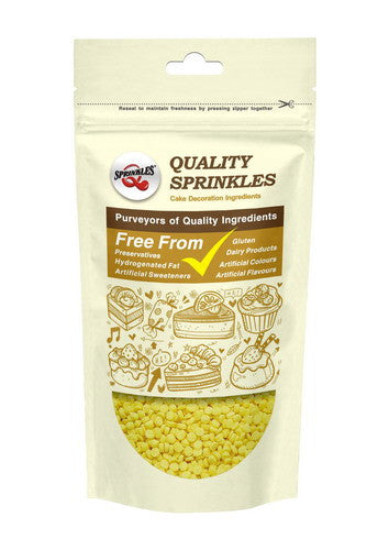 Natural yellow Gluten GMO Nuts Dairy Soy Free Confetti Dots