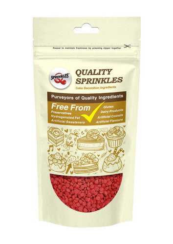Natural Red Gluten GMO Nuts Dairy Soy Free Confetti Dots