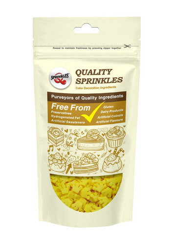 Natural Yellow Gluten GMO Nuts Dairy Soy Free Confetti Crown
