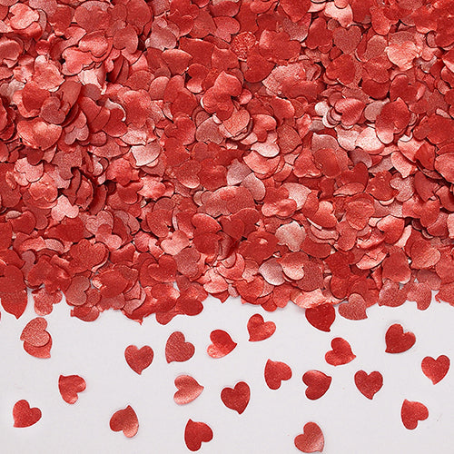 Natural Edible RED GMO Nuts Gluten Sugar Free  Glitter Hearts