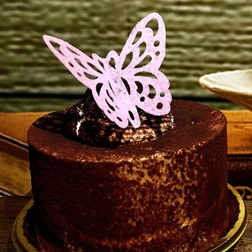 Edible Wafer Gluten GMO Dairy Sugar Nut Soy Free Lace pink Butterfly