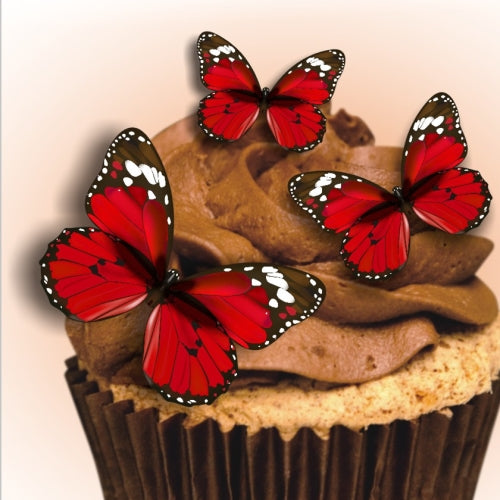 Edible Sugar free Nuts GMO Gluten free Wafer precut Butterflies