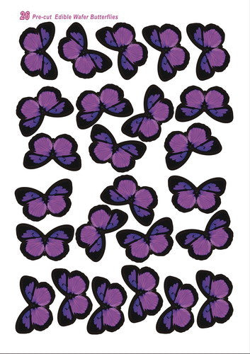 Edible Wafer Butterflies--vivid 11 precut wafer shapes