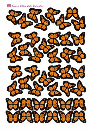 Edible Gluten nuts free precut Wafer Butterflies, kosher Halal vegan