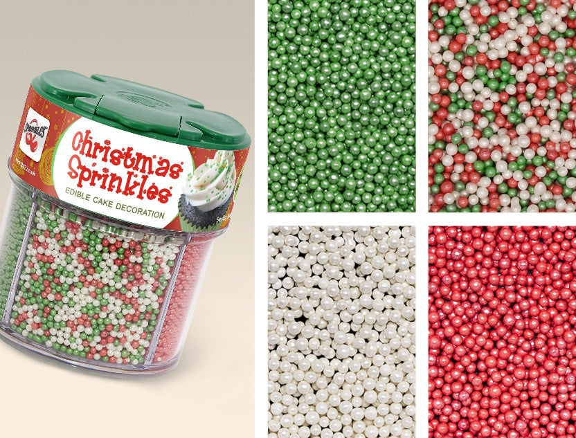 Christmas 4 cell Shaker-Soy Nuts Gluten Free Natural Sprinkles Nonpareils