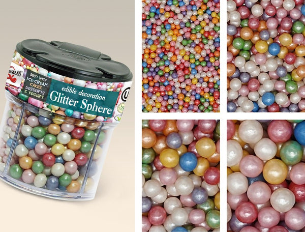 Glitter Sphere Nut Free Kosher Certified Edible Decoration