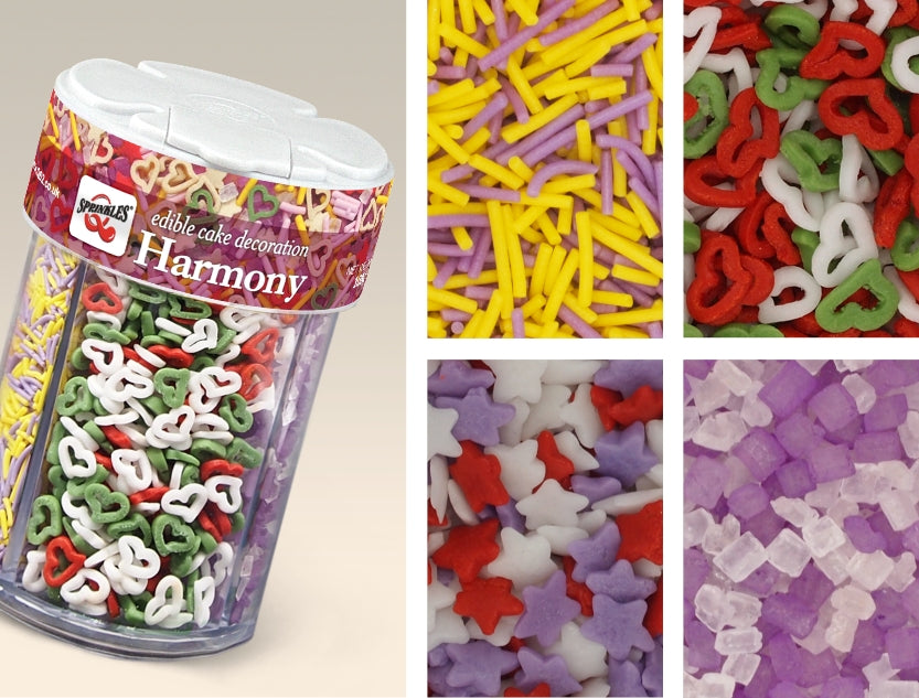 Harmony 4 in1 shaker-SOY Nuts GMO Gluten Dairy free, Natural Sprinkles