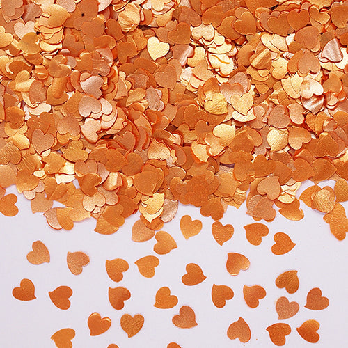 Natural Edible Orange GMO Nuts Gluten Sugar Free  Glitter Hearts