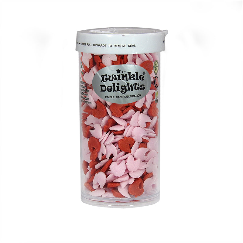 Pink&Red Gluten Nuts Free Confetti Ducks Sprinkles for cake decorating