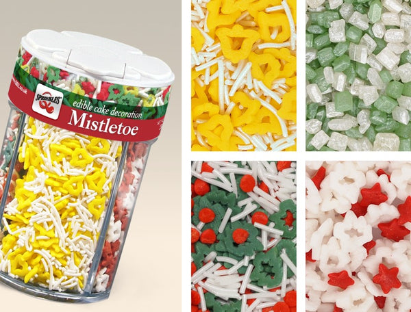 Mistletoe 4 in 1 shaker-SOY NUTS Gluten free, Vegan Cake decorating