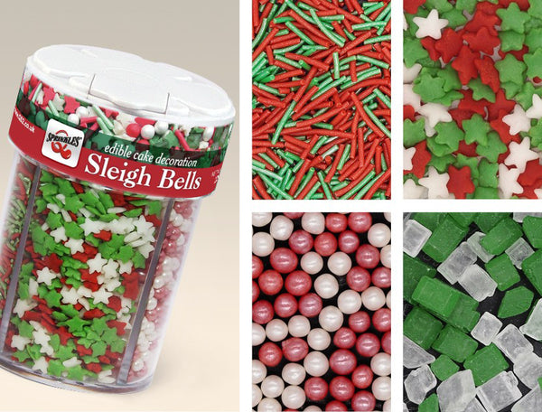 479 Sleigh Bells 4 in 1-SOY & NUTS free, Vegan, Halal Cake decorations