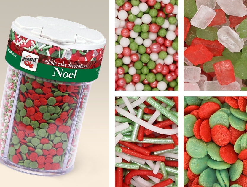 Noel 4 in 1 shaker Nut Free Kosher Certified Edible Decoration